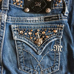Miss Me studded front & back boot cut jeans 26